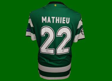 2017/18. Camisola listada do jogador francês Mathieu, Champions League