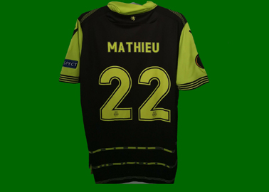 2017/18. Camisola Champions de jogo do Mathieu