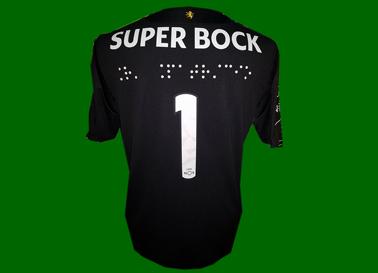 2017/18. Equipamento do Rui Patrício. Os jogadores do Sporting com os nomes em braille nas camisolas