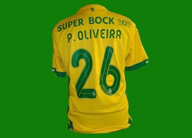 Equipamento de jogo de Paulo Oliveira