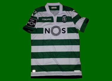 Camisola do Sporting listada usada em jogo por Ristovski