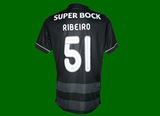 2015/16. Equipamento de jogo do Sporting, do jogador de futebol Rúben Ribeiro
