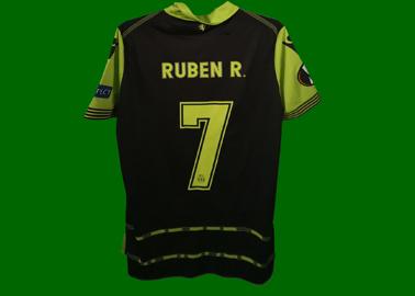 2017/18. Camisola Champions de jogo do Rúben Ribeiro