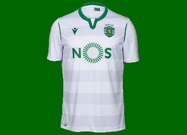 2019/20. Equipamento do Sporting segundo alternativo branco