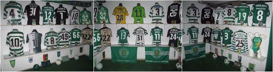 A sala de camisolas em Julho de 2017 do Museu do Sporting do Hugo Costa