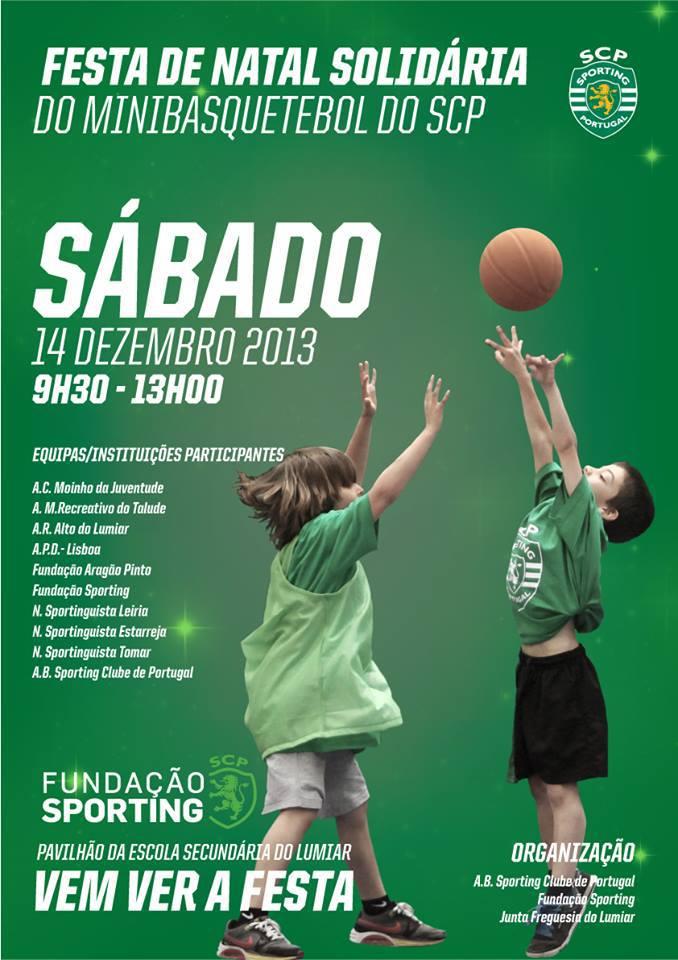 cartaz do Natal solidário do basquetebol do Sporting