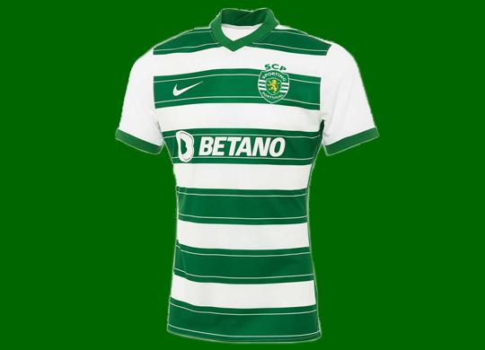 2021/22. Camisola listada do Sporting da Nike, da Loja Verde do Sporting