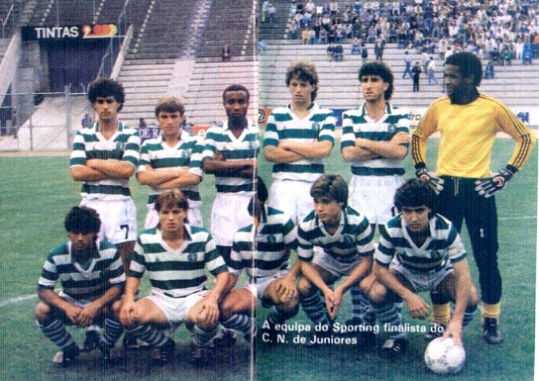 Juniores do Sporting 1988/87: camisola amarela com emblema Adidas