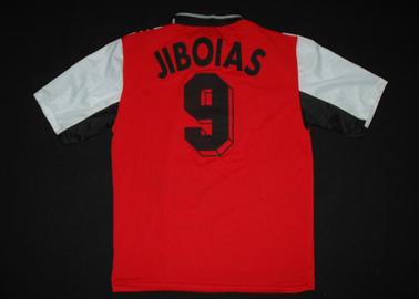 Clube Jibóias - Camisola usada em jogo por Miguel Peixoto, raríssima e preciosa