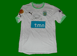 Camisola alternativa de jogo do Sporting em Bilbao contra o Athletic 26 de Abril de 2012
