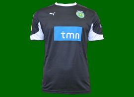equipamento do Sporting 2011 2012 segunda alternativa, preto, usado por Bojinov jogo Zurique-Sporting