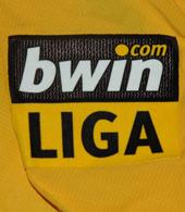 Yellow away kit match worn by striker Bueno 2006/07 Sporting Portugal