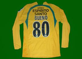 terceiro equipamento amarelo usada pelo Bueno  mangas compridas 2006/07