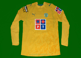 Yellow away top matchworn by striker Bueno 2006/07 Sporting Portugal