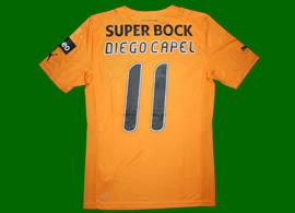 Away shirt worn by Diego Capel in the 3-0 defeat against Rio Ave December 29 2012
