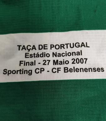 Camisola preparada para Carlos Martins para a Final da Taça de Portugal a 27 de maio de 2007. O Sporting venceu 1-0
