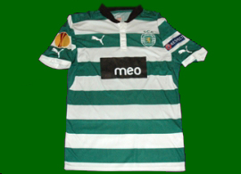 Match worn Sporting Lisbon hooped shirt Daniel Carriço Europe League 2012/13