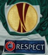 Camisola de jogo do Sporting listada usada por Daniel Carriço num jogo da Liga Europa 2012/13