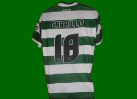 Equipamento do Sporting contrafeito vindo do Peru, onde claramente gostam do Andre Carrillo!