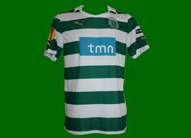 Equipamento de jogo (Liga Europa) do Sporting do Daniel Carriço 2011/12