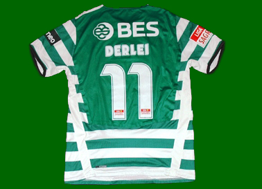 Derlei Sporting Lisbon 2008/09 matchworn short sleeved shirt