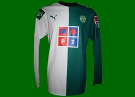 2007/08. Longsleeved Stromp shirt of the ninja Derlei, League Cup Sporting Lisbon