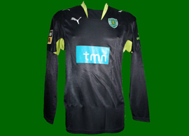 2007/08. Black away shirt worn in match by Russian football player Izmailov