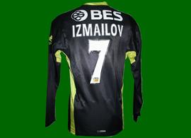 2007/08. Equipamento alternativo negro de mangas compridas do Izmailov, Campeonato Nacional