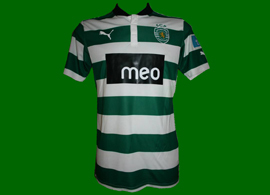 2012/13. League Cup match worn jersey of Sporting, player Jeffren