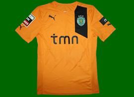 Match worn orange jersey of Zakaria Labyad Sporting Lisbon 2012/13