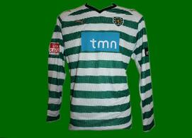 Official Sporting Lisbon soccer jersey match worn Liedson 2008/09 Portugal