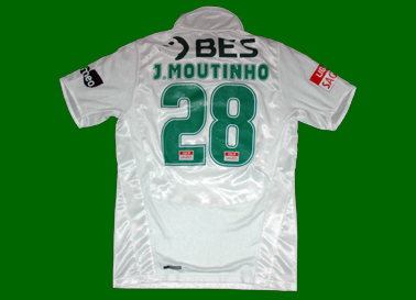 2008/09. Camisola alternativa do Moutinho em mau estado