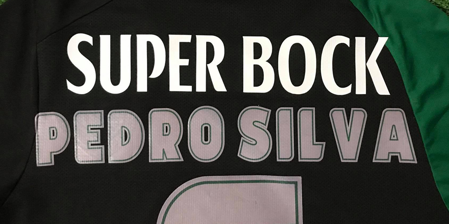 camisola do Pedro Silva, com o novo patrocínio colocado