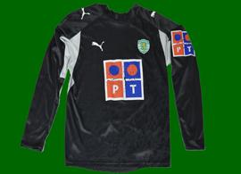 Sporting Libon 2006/07 Black goalkeeper shirt, personalized Ricardo