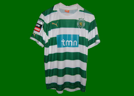 Sporting Lisbon Ricky van Wolfswinkel match worn soccer jersey 2011 12