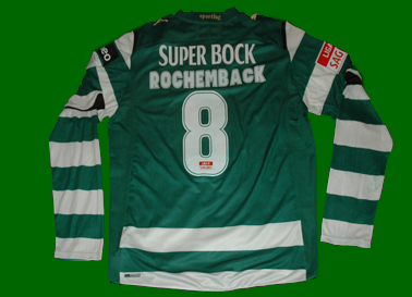 equipamento do Sporting do futebolista Rochemback