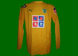 2006/2007. Sporting Lisbon yellow third top of Romagnoli, national league
