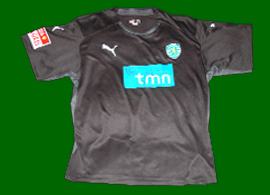 Shortsleeved goalkeeper top match worn by Portugal goalkeeper Rui Patricio Sporting 08/09