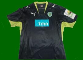 camisola falsificada Sporting 2007 08 Ronny pseudo de jogo SCP