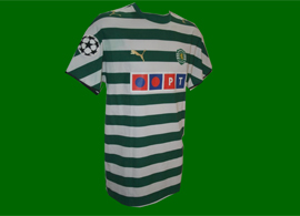 SCP camisola de jogo do Sporting Lisboa Custodio 2006/07
