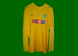 longsleeved yellow PT Sporting Portugal jersey