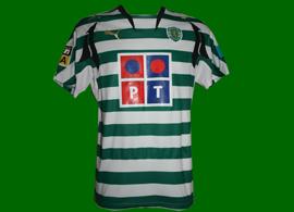 Camisa do Sporting Liga Sagres Joao Moutinho 2007 2008