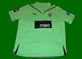 Player issue Sporting Caicedo 2009 2010 away shirt
