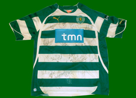 signed shirt Andre Santos 2011 whole Sporting team