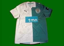 Camisola do Sporting Stromp Sinama Pongolle 2010