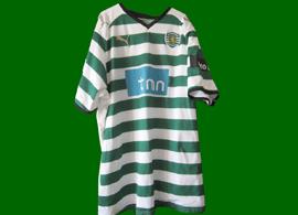 Sporting Lisbon Vitoria Setubal match worn shirt