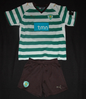 Small child kit, with shirt and shorts. In fairly bad shape Sporting Lisbon 2008/09