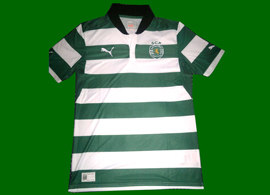 New Sporting Lisbon green/white stripes top 2012/13, without the meo sponsor