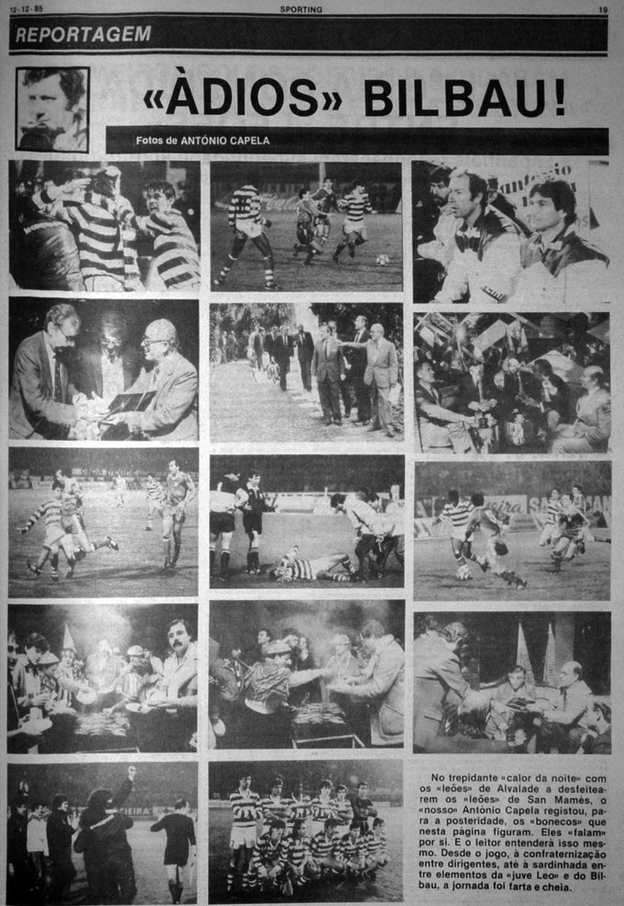 Sporting-Atlético de Bilbao 11 December 1985 - photos