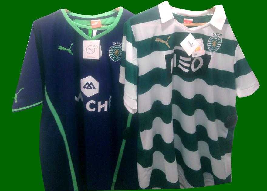 nova camisola do Sporting 2013 2014 home e alternativa